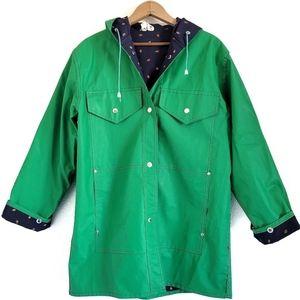 Cloud 9 Green Strawberry Raincoat with Hood